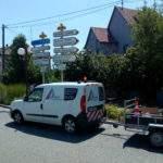 Ensemble panneaux directionnels