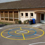 Jeux d'école Cercles jaune et bleu