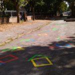 Marquage au sol maisons en peinture couleur